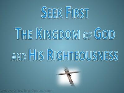 Matthew 6:33 Seek First The Kingdom (blue)