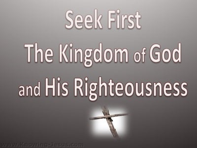 Matthew 6:33 Seek First The Kingdom (white)