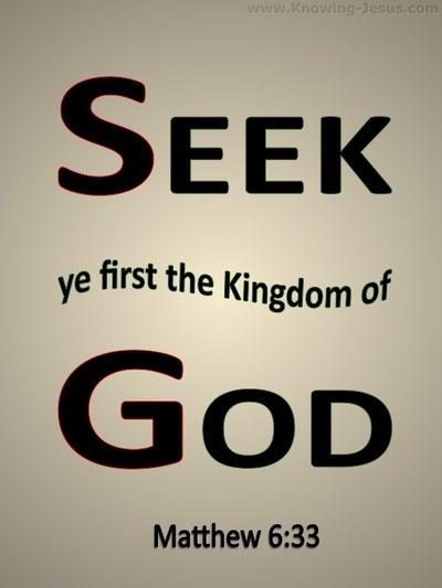 Matthew 6:33 Seek First The Kingdom Of God (beige)
