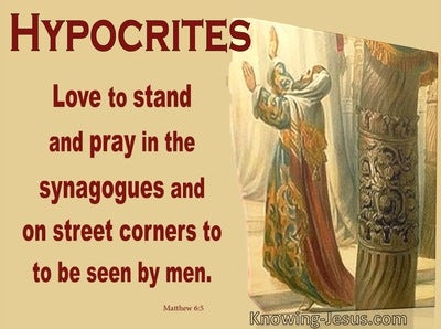 Matthew 6:5 Do Not Be Like The Hypocrites (yellow)