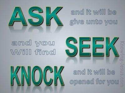 Matthew 7:7 Ask, Seek, Knock (green)