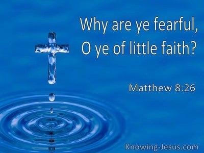 Matthew 8:26 Why Are Ye Fearful O Ye Of Little Faith (utmost)08:12