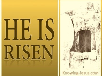 Mark 16:6 He Is Not Here He Is Risen (gold)