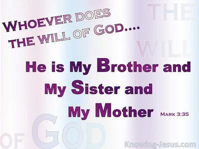 Mark 3:35 Whoever Does The Will Of The Father (pink)
