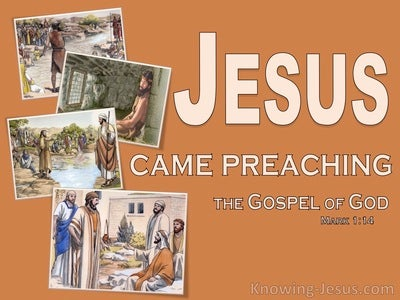 Mark 1:14 John Was Taken Into Custody (brown)