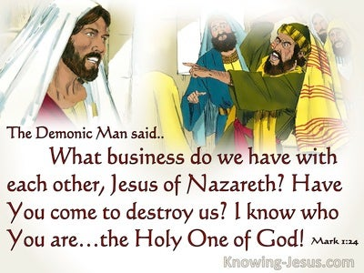 Mark 1:24 What Have We To Do With You (red)