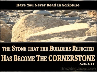 Mark 12:10 The Stone Which The Builders Rejected (black)