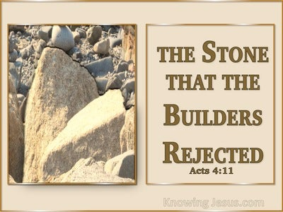 Mark 12:10 The Stone Which The Builders Rejected (brown)
