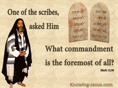 Mark 12:28 What Commandment is Formost (beige)