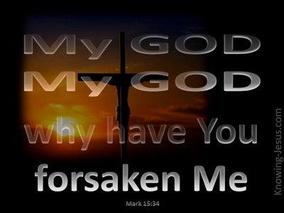 Mark 15:34 My God Why Have You Forsaken Me (silver)