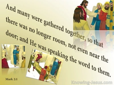 Mark 2:1 There Was No Room (yellow)