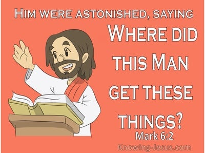 Mark 6:2 He Began To Teach In The Synagogue (orange)