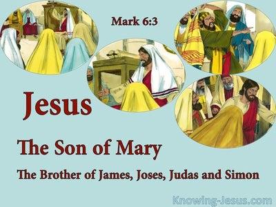 Mark 6:3 Jesus, The Carpenters Son (blue)