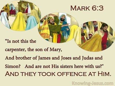 Mark 6:3 Jesus, The Carpenters Son (yellow)