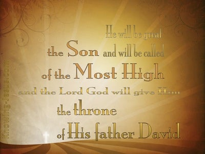 Luke 1:32 The Throne Of David (brown)