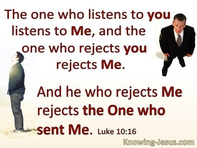 Luke 10:16 He Who Listens To You Listens To Me (red)