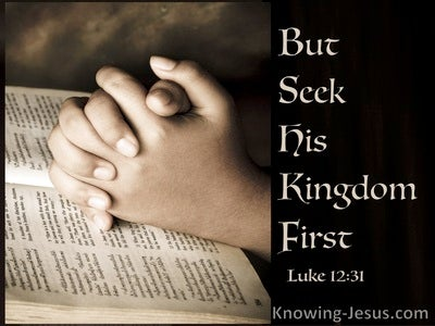 Luke 12:31 Seek First The Kingdom Of God (brown)