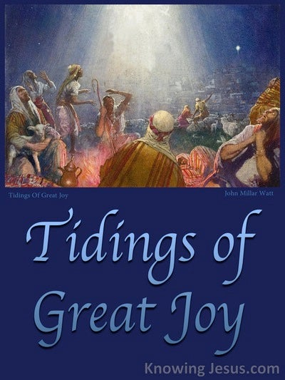 Luke 2:10 Tidings Of Great Joy (blue)