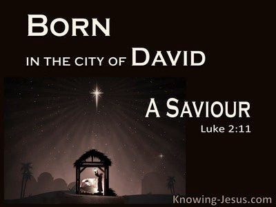 Luke 2:11 A Saviour Who Is Christ The Lord (black)