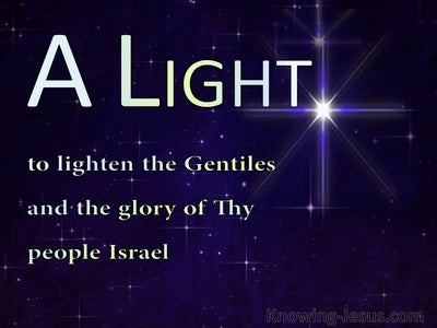 Luke 2:32 A Light To Lighten The Gentiles (blue)