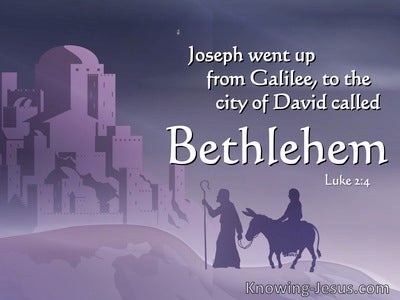 Luke 2:4 Joseph Also Went Up From Galilee (white)
