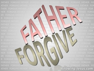 Luke 23:34 Father Forgive (gray)