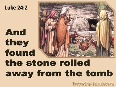 Luke 24:2 They Found The Stone Rolled Away (beige)