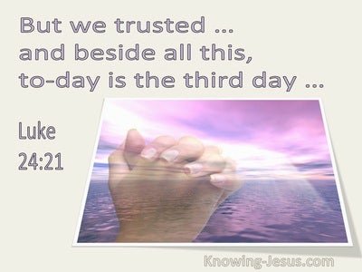 Luke 24:21 But We Trusted And Beside This Is The Third Day (utmost)02:07