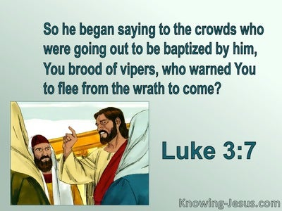 Luke 3:7 You Brood Of Vipers (green)