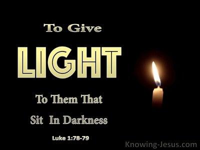 Luke 1:78 Through The Tender Mercy Of Our God (black)
