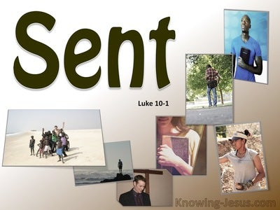 Luke 10:1 Sent Two By Two (brown)