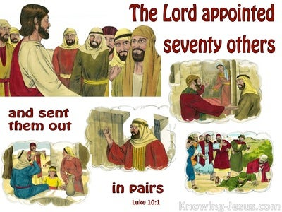 Luke 10:1 He Appointed Seventy Others (white)