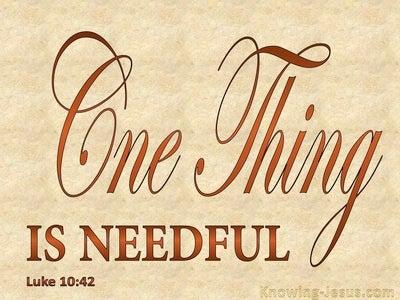 Luke 10:42 One Think Is Needful (beige)