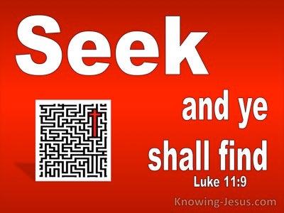 Luke 11:9 Seek And Ye Shall Find (white)