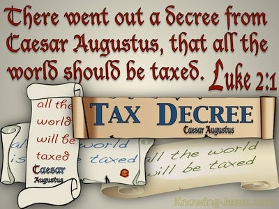 Luke 2:1 All The Word Should Be Taxed (red)