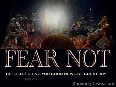 Luke 2:10 Tidings Of Great Joy To All People (black)