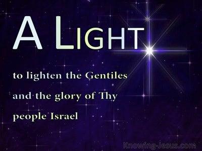 Luke 2:32 A Light To Lighten The Gentiles (blue)
