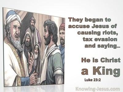 Luke 23:2 They Began To Accuse Jesus of Causing Riots (gray)