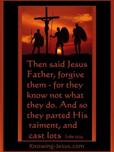 Luke 23:34 Father Forgive (black)