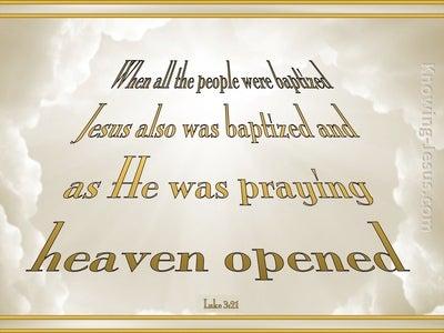 Luke 3:21 When Jesus Was Praying (gold)