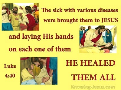 Luke 4:40 While The Sun Set He Healed Them (yellow)