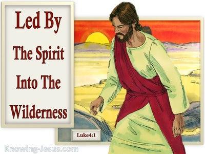 Luke 4:1 Jesus Full Of The Holy Spirit Led In The Wilderness (beige)