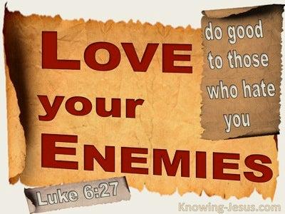 Luke 6:27 Love Your Enemies (beige)