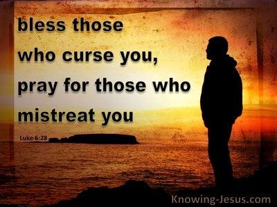 Luke 6:28 Bless Those Who Curse You And Pray (orange)