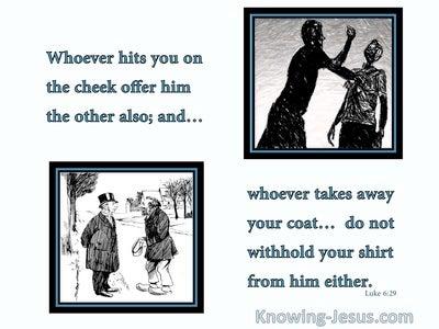 Luke 6:29 Whoever Hits You (aqua)