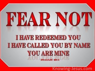 Isaiah 43:1 Fear Not I Have Redeemed You (red)