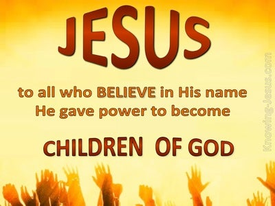 John 1:12 Children of God (brown)