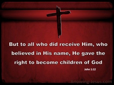 John 1:12 Children of God (red)