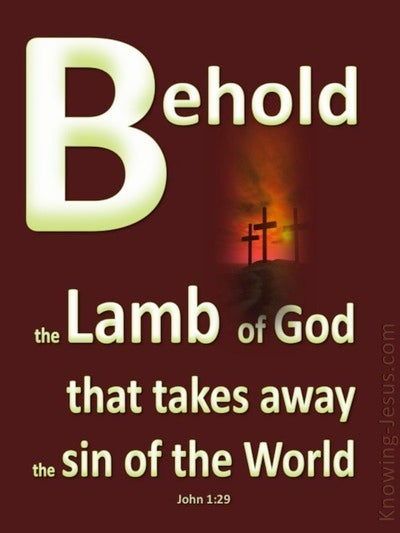 John 1:29 Behold, The Lamb Of God (beige)