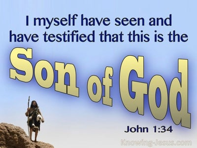 John 1:34 This Is The Son Of God (blue)